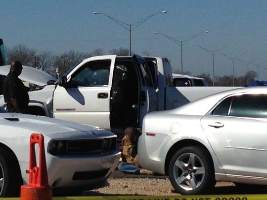 One suspect is in custody after a Tuesday morning armored