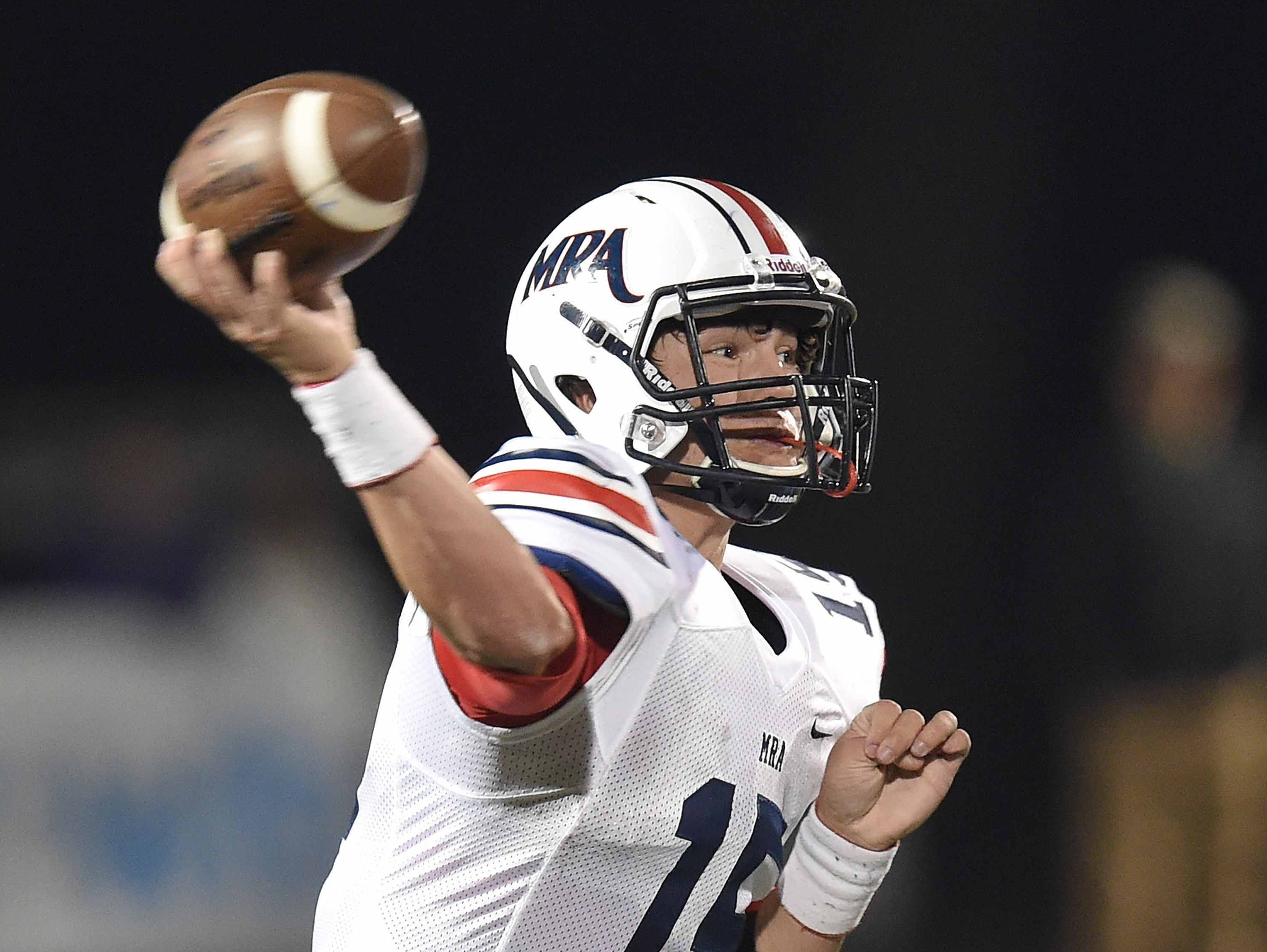 MRA quarterback Hayden Davis will likely miss the remainder of the 2015 season with an ACL injury