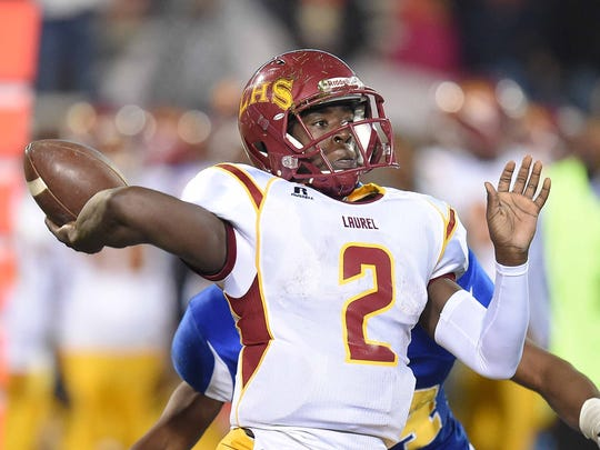Laurel quarterback Keon Howard eclipsed 10,000 career passing yards in the Golden Tornadoes 62-14 win over Brookhaven.
