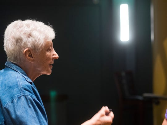 """Frances Smith Cohen, Center Dance Ensemble's artistic director, at a rehearsal in 2014. """"I like to use singing and the imagination. I love to take them to the realm of fairy tales,"""" she said about working with 4- and 5-year-old dancers."""