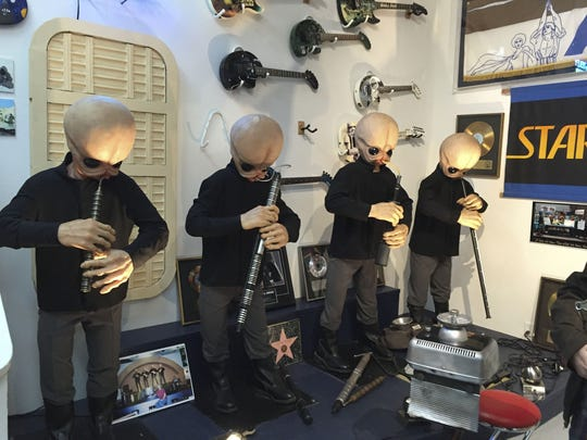 """The animatronic band Figrin D'an and the Modal Nodes, from the Mos Eisley Cantina scene in 1977's """"Star Wars,"""" now calls Rancho Obi-Wan home."""