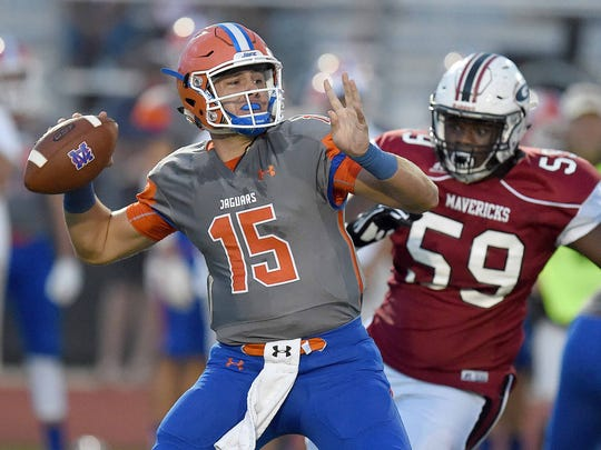 Madison Central, behind quarterback Jack Walker, will