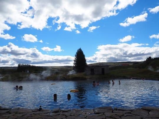The Secret Lagoon in Iceland. (Jenn Harris/Los Angeles
