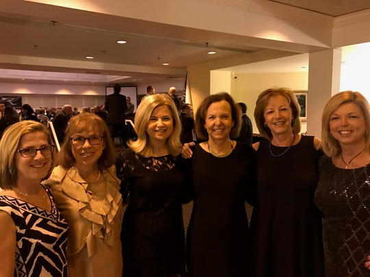 """Holy Rosary photos  The 25th Annual Holy Rosary Gala was at the Evansville Country Club.  Pictured here are the """" Bunko Babe"""" friends, four of whom are chairpersons of past galas.  From left are Barb Abell, Laura Young, Julie Bath, Susan Simpson, Kim Casey and Beth Zirkelbach."""