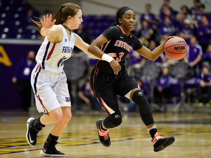 Ensworth's Jordyn Cambridge (3) advances past Father