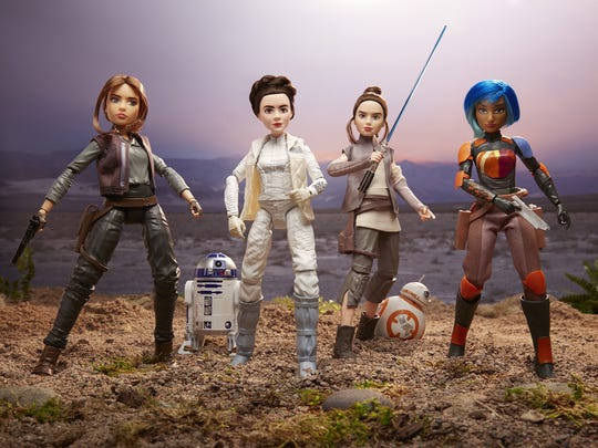Toys from the 'Forces of Destiny' line including Jyn