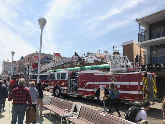The Ocean City Fire Department responded to a structure