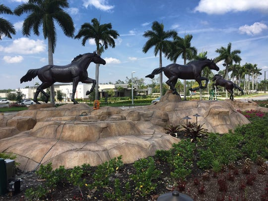 A scaled-down version of Lely Resort's iconic Freedom Horses is south of the new building. A new 23,000 sq. ft. medical facility is under construction for NCH along Collier Blvd., just north of Grand Lely Drive.