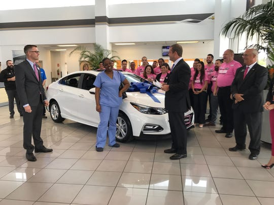 Areshia Bussey received a free Chevrolet from AutoNation Chevrolet North in Corpus Christi on May 23, 2017.