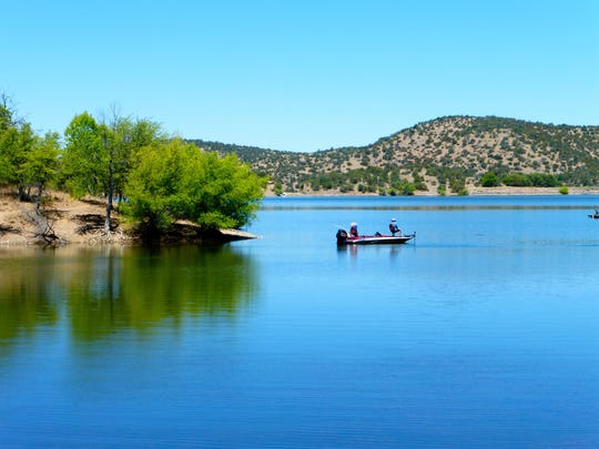 Parker Canyon Lake sits at the end of a winding country