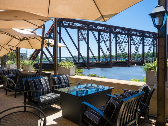 Enjoy a view from the Ouachita River from the outdoor dining area