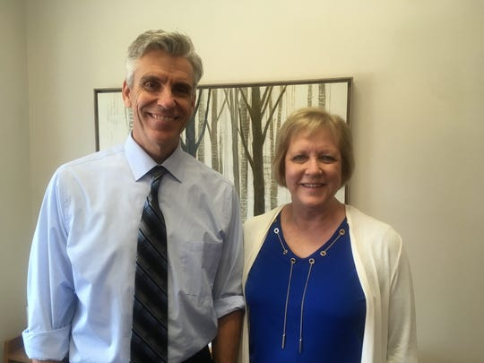 Eric Williams, executive director of STRIDE Academy, and Diane Moeller, principal of STRIDE Academy.