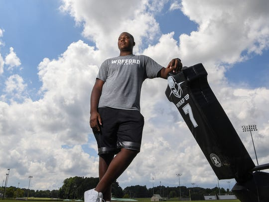 Quashon Greenlee, a rising senior at T.L. Hanna High School, committed to Wofford College.