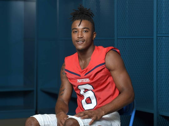 Brookhaven cornerback Jemaurian Jones poses for pictures