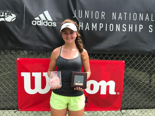 Mercy's Julia Andreach at the Girls' 16-under National Championships