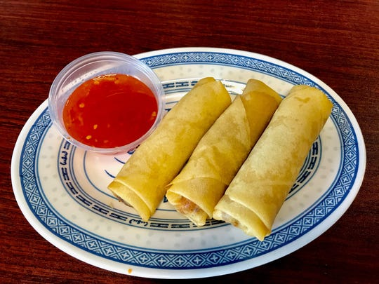 The order of egg rolls ($3.95) got the Lunch Dude and Lunch Buddy's meals off to a good start at Pho Cafe.