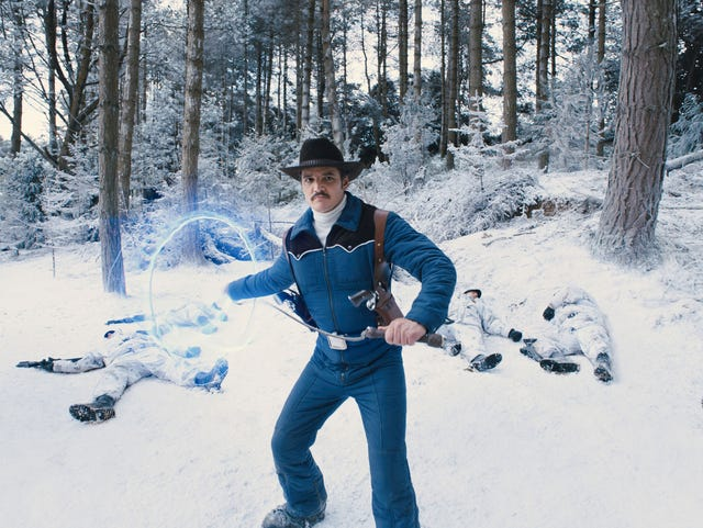 Pedro Pascal wields an electric lasso as American superspy
