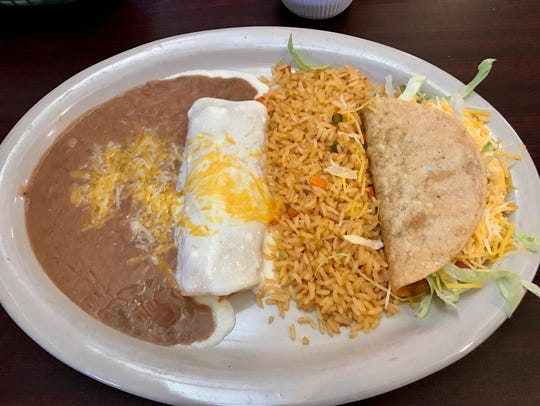 The taco at El Sancho in Iowa Park came stuffed with