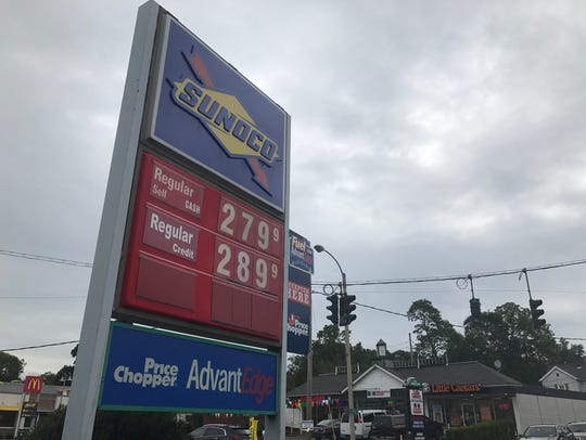 The gas prices at this Sunoco station on Main Street