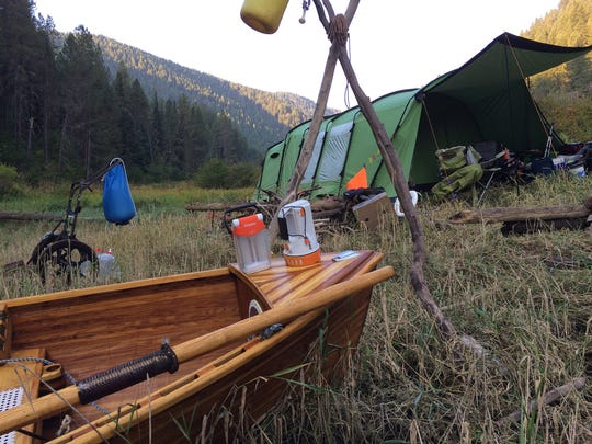 Patrick Durkin's do-it-yourself elk camp in southeastern Idaho's Targhee-Caribou National Forest.