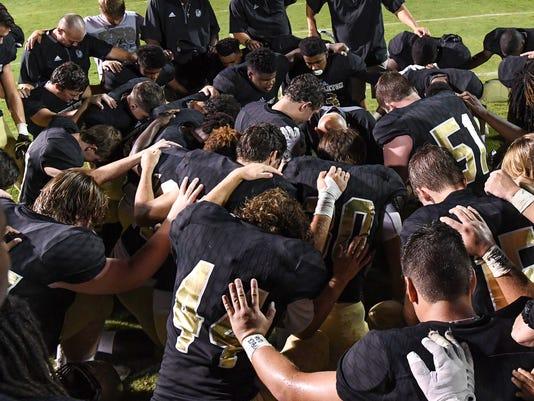 Pendleton Coach Sutherland prayer