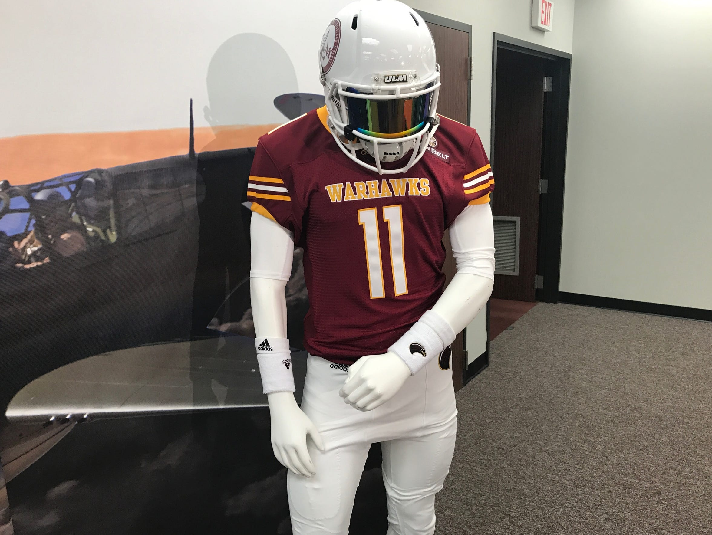 ULM is wearing special tribute jerseys on Saturday