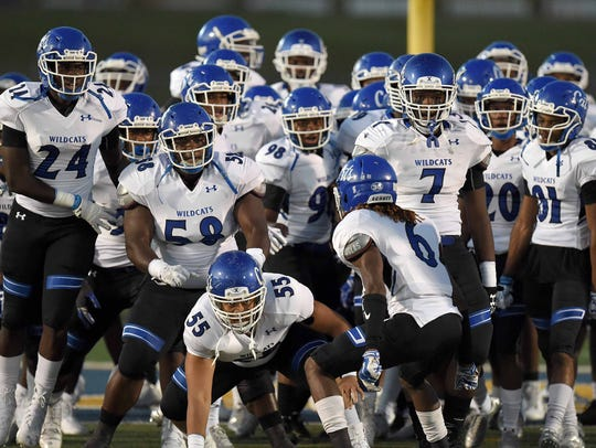 The Meridian Wildcats take the field on Friday at Pearl.