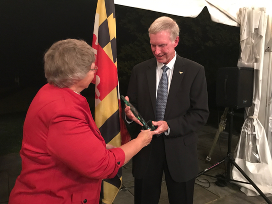 Dr. Frank Butler receives the  Maj. Johnathan Letterman