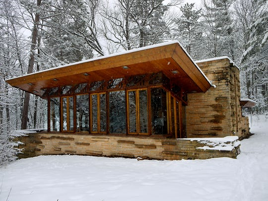 The Seth Peterson Cottage on Mirror Lake, near Lake Delton, was Frank Lloyd Wright's final commission in Wisconsin and one of the smallest homes he ever designed.