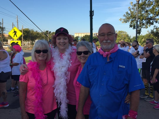 Gretchen Fuhrman, second from left, is a two-year cancer