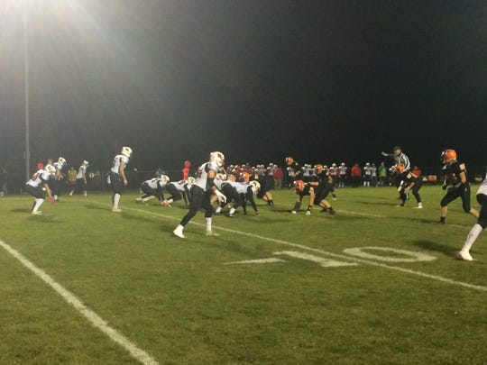 Iola-Scandinavia's defense forced three first half turnovers before its offense took control in a Division 6 quarterfinal win over Marathon.