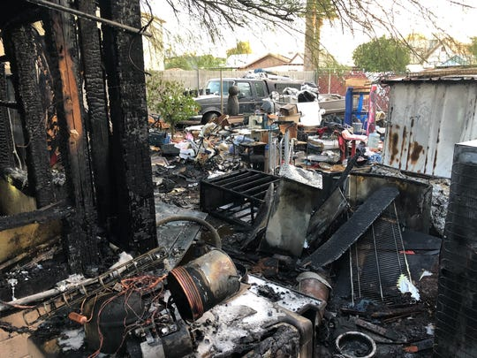 Phoenix fire responded to the fire in the area of 2200 N. 23rd St. on Saturday, Nov. 11, 2017.