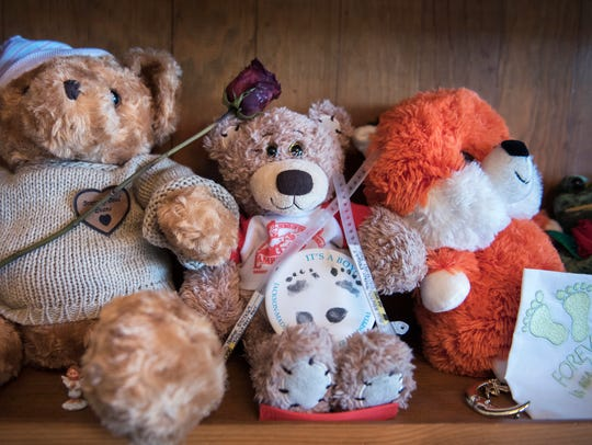 The late Brantley Evans' first teddy bears are seen
