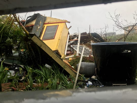 The morning after Hurricane Maria made landfall, Vieques City Council President Gypsy Cordova captured this photo of his next-door neighbor's leveled home.