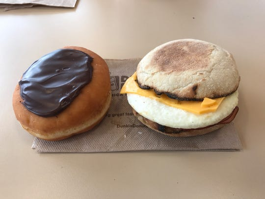 Dunkin' Donuts offers a variety of items, including