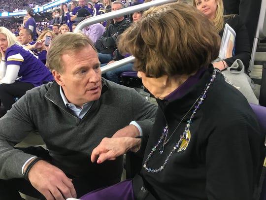 NFL Commissioner Roger Goodell visits Minnesota Vikings