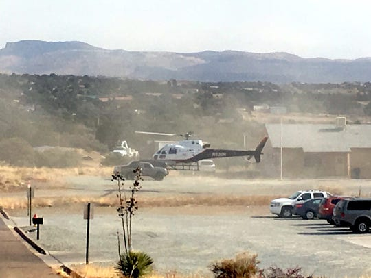 Air Med does a mock load and takeoff during an active