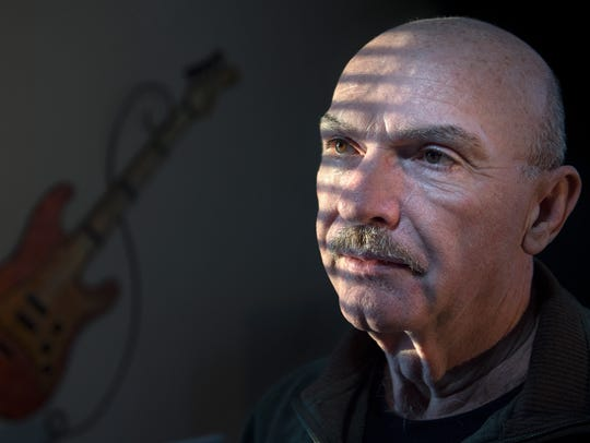 Musician Wes Henley, of Jackson, poses for a portrait