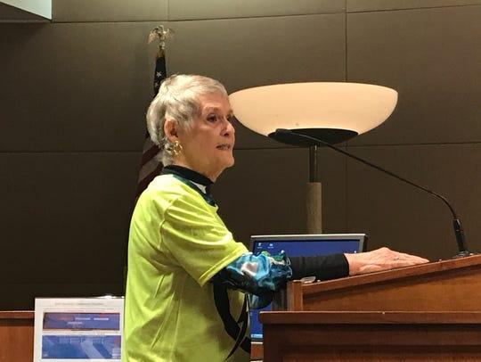 Sandra Spencer Miller speaks out against a proposal