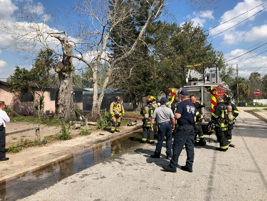 Titusville and Brevard County firefighters responded