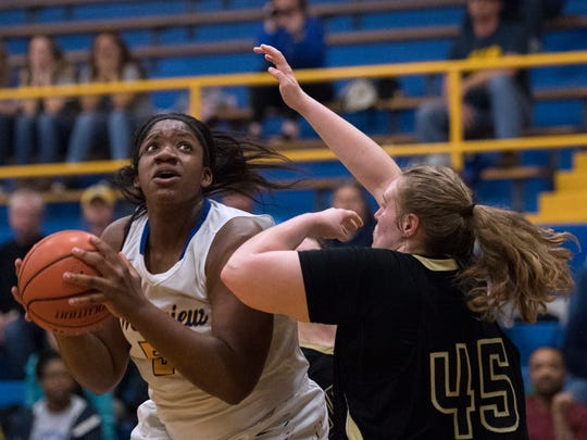 Westview's Deja Graves attempts a basket Wednesday,