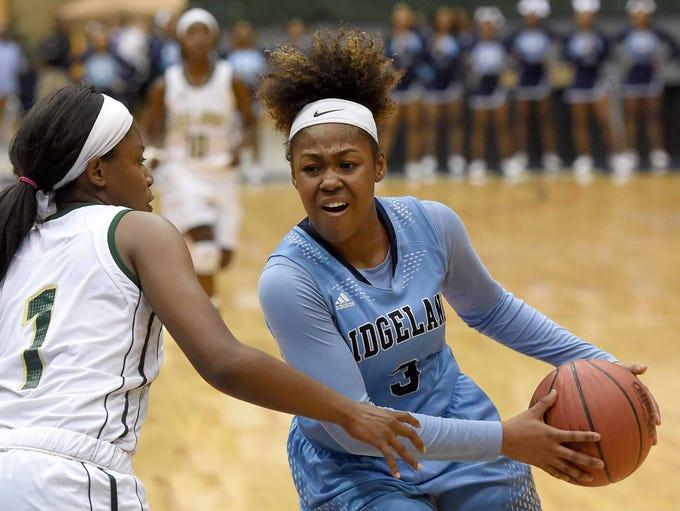Ridgeland's Shanell Kitchens (3) drives against West