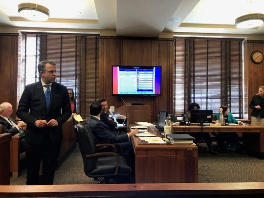 Attorney Jamie Hollin, representing plaintiff Ludye