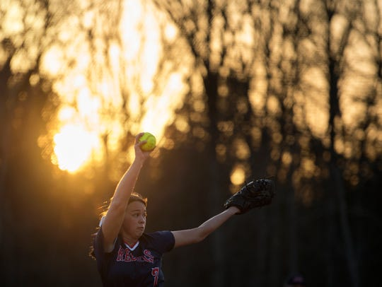 Tipton-Rosemark's Rachel Whitley pitches Thursday,