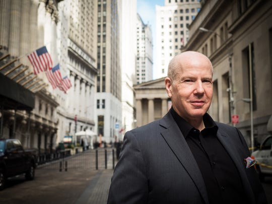 Author and businessman Matt Sweetwood on Wall Street in New York.