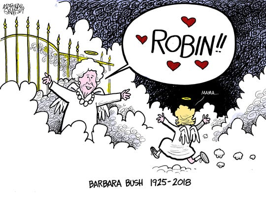 Barbara Bush will be buried Saturday, April 21, 2018, near her daughter Robin, who died at 3 from leukemia.