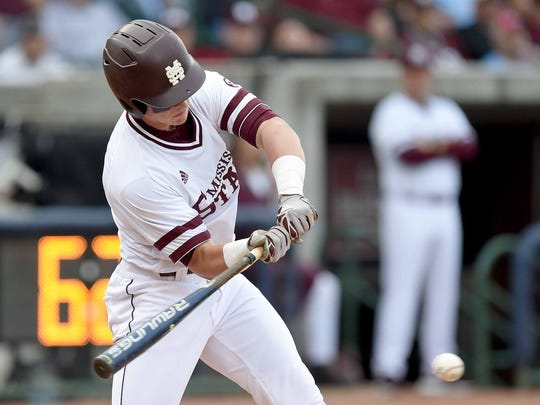 Mississippi State sophomore shortstop Jordan Westburg had another multi-hit game against East Carolina on Tuesday night.