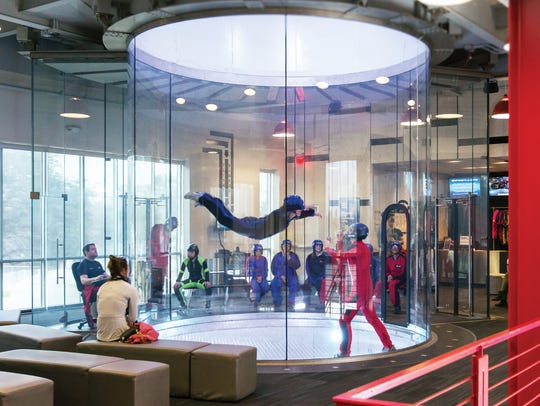 iFLY simulates skydiving indoors. There are locations in Paramus and King of Prussia.