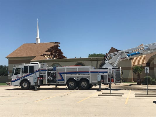 Church roof collapses