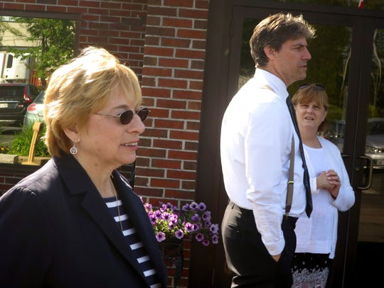 Maine Attorney General Janet Mills, left, who is one